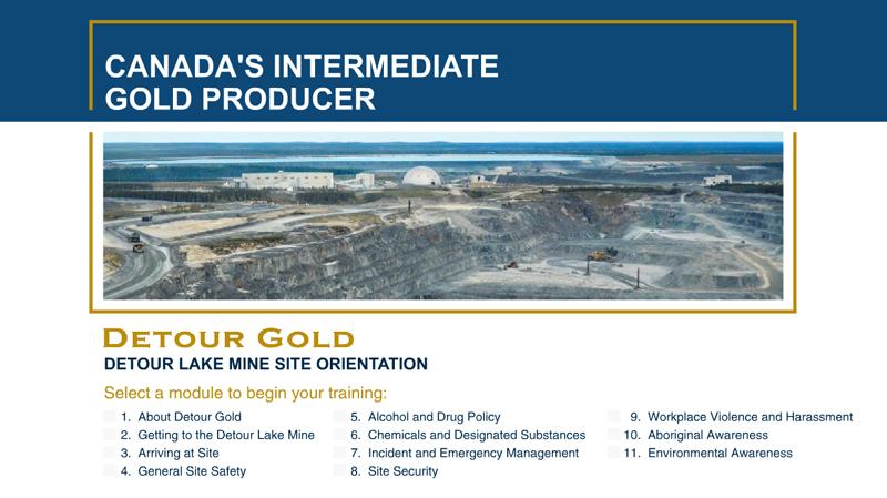 Detour Gold Mine Site Orientation